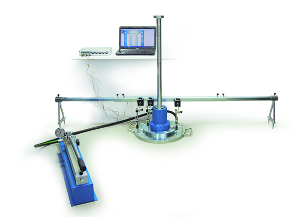 Plate Loading Test with data logging equipment